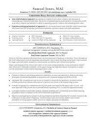 Commercial Appraiser Sample Resume Enchanting Resume Objective For Real Estate Administrative Assistant Job