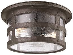 troy c3310 barbosa 2 lamp nautical bronze flush mount outdoor ceiling light loading zoom