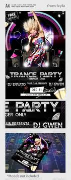 best images about flyer templates fonts mobile trance party flyer template