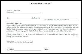Notary Public Template Notary Public Template Signature Acknowledgement N General Statement