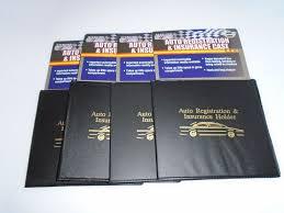 4 pack auto car truck registration insurance card doent