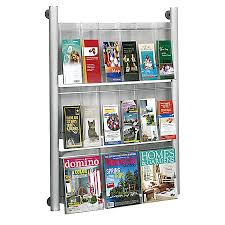 office depot magazine rack. Safco Luxe Magazine Rack 41 H Office Depot