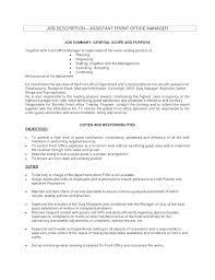 Medical Office Billing Manager Job Description Assistant Front Office Manager Jobs Blogue Me