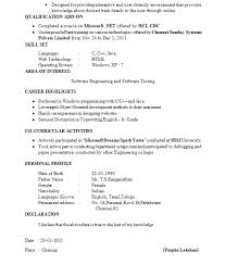 Sample Res Elegant Sample Resume For Software Tester Fresher Best