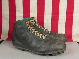 Vintage 1920s Leather Soccer Football Boots Rugby Shoes