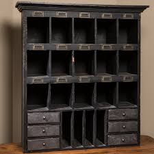 antique style black wood desk organizer
