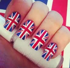 England Flag Nail Designs England England Union Jack Nail Art British Flag