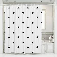Image Amazon Etsy Geometric Shower Curtain Black White Shower Curtain Shower Curtain Design Bath Curtain Designer Decor White Shower Curtain