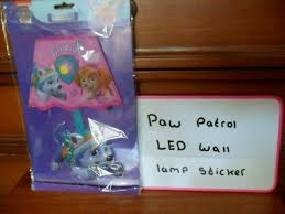 Paw Patrol And Trolls Led Wall Lamp Stickers In Westcliff On Sea