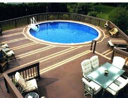 Deck Ideas For Oval Above Ground Pools Round