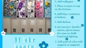 diy locker ideas 2016 e decorations cool ways decor school locker