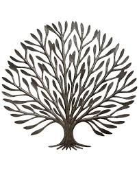 on metal art tree of life wall hanging with elegant tree of life metal art fair trade haitian wall hanging