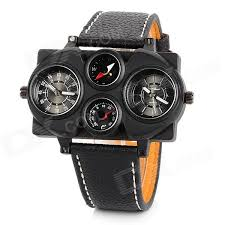 super hip hop fashion oversized 4 dial pu band quartz analogue super hip hop fashion oversized 4 dial pu band quartz analogue wrist watch for men black