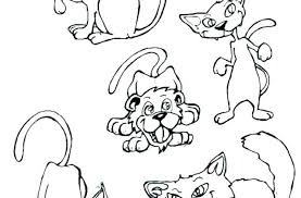 Christmas Cat Coloring Page Coloring Pages Animals Big Cat Coloring