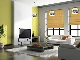 Japanese style living room furniture with white sofa