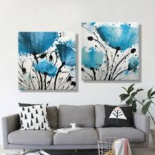 Painting Canvas For Living Room Online Get Cheap Painting Living Room Blue Aliexpresscom