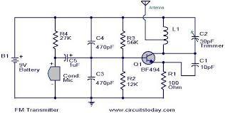 transistor transmitter electronic circuit diagram wiring diagram cloud transistor transmitter circuit diagram wiring diagram user simplest fm transmitter modulation circuit bf494 radio transistor
