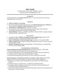 Ideas of Electrical Engineering Resume Sample Pdf In Reference