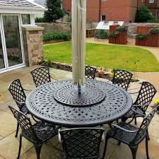 white ella 60 cm bistro table with 2