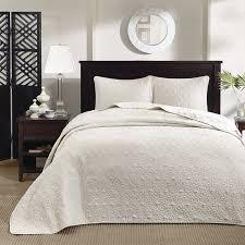 com madison park quebec 3 piece bedspread set king ivory home kitchen