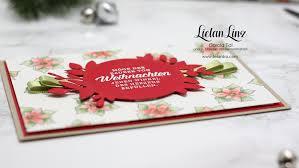 Weihnachtskarte Weihnachtsstern Stampin Up Lielan Linz