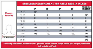 Riddell Shoulder Pad Size Chart Doulgas Elite Shoulder Pad 116 99 Sunvalco Athletic