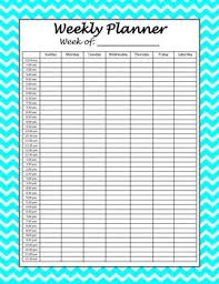 hourly agenda weekly hourly planner printables hourly planner weekly