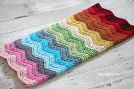 Crochet Ripple Pattern New Rainbow Ripple Crochet Blanket Repeat Crafter Me