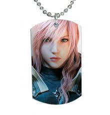 final fantasy 13 xiii lightning returns dog tag pendant necklace on craftisart