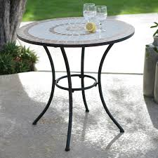 30 inch round bistro style wrought iron outdoor patio table with