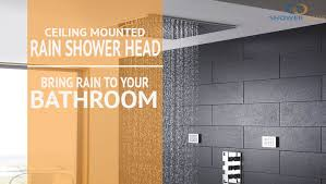 ceiling mounted shower head. Ceiling Mounted Rain Shower Head: Bring To Your Bathroom Head .