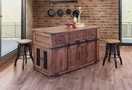 International Furniture Direct Parota 3 Drawer Kitchen Island