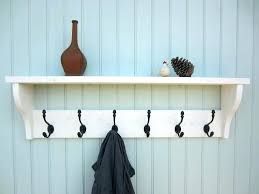 Shabby Chic Coat Rack Stunning Wall Rack Hooks Coat Hooks With Shelf Shabby Chic White Washed Hat