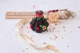 chocolate multicoloured flowered modak