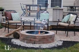 paver patio with fire pit. Diy Paver Patio And Fire Pit, Concrete Masonry, Decks, Outdoor Living, With Pit E