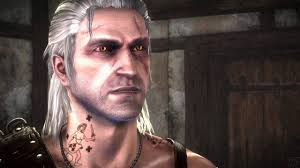 The Witcher 2 Geralt Gets A Blue Stripes Tattoo To Paradise On Whores Arses