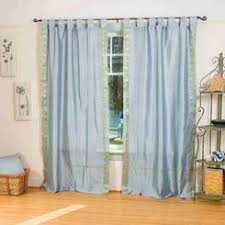 tab top sheer curtains. Indian Selections Gray Tab Top Sheer Sari Curtain / Drape Panel - 43W X 84L Curtains T