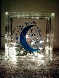 glass block night lights glass blocks lights i love you to the moon and back night light nursery decor glass glass block night light for baby room