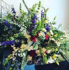 wild flower casket design