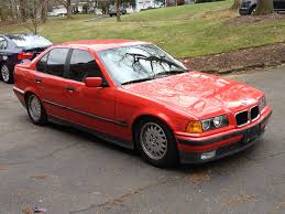 Coupe Series 325i bmw 95 : E36 1995 Hellrot (red) 325i Sedan. North Jersey near NYC.