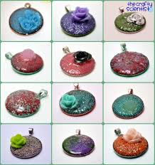 Pendants Made With Microbeads And Mod Podge The