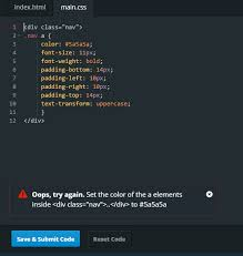 Where do I put ..nav a CSS style in