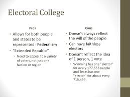chapter elections and campaigns types of elections primary 18 electoral college pros