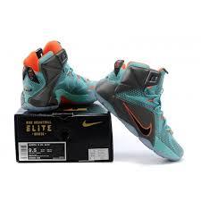 lebron james shoes 12 for kids. cheap nike lebron 12 kids grey green orange basketball shoes james for