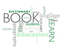 Poster With Words Related To Education Isolated Over A White