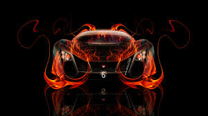 marussia russian fire abstract car