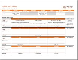 Content Calendar And Plan Template Spreadsheetshoppe