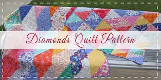 10 Free Fat Quarter Quilt Patterns & Projects & Diamonds - Fat Quarter Quilt Pattern Adamdwight.com