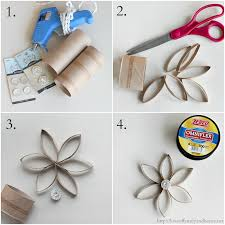 DIY Christmas Ornaments made from Recycled Toilet Paper Rolls. Step ...