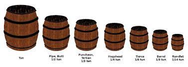 barrel size english brewery cask units wikipedia